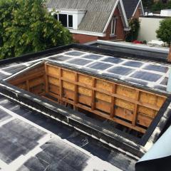 Asfaltering plat dak